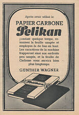 Publicité ancienne papier carbone Pélikan 1944 issue de magazine