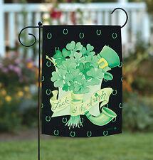 New Toland - Irish Bouquet - St Patrick Luck Green Clover Shamrock Garden Flag