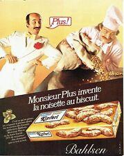 Publicité Advertising 057  1980  Bahlsen  biscuits Monsieur Plus Kipferl
