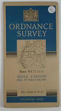 1953 OS Ordnance Survey 1:25000 First Series Prov map NY 12 Lorton Vale 35/12