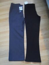 2 pares de teflón/T.K. Max Niñas Escuela Pantalones Cintura 26 Negro + Gris Edad 7/8 años