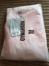 Gymshark Grey Chalk Pink Seamless Long Sleeve Top - M Medium