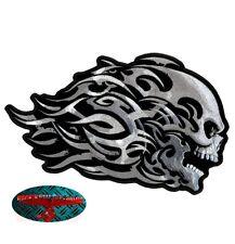 Tribal Skull & Bones Patch Patch aufbügler Biker motocicleta rocker Harley EE. UU.