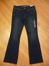 Womens NEW AE American Eagle Kick Boot Mid Rise Stretch Dark Denim Jeans 14 Long