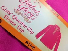 Girls M 7/8 WARM COZY FLEECE TOP Shirt Jacket  Sz:  M Medium 7/8