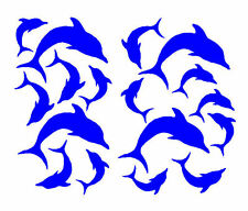 17 DOLPHIN STICKERS vinyl DECAL, car, SHOWER, wall, WINDOW, bathroom, TILE,