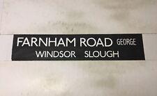 "Slough Bus Blind 258 (31"") Farnham Road George Windsor Slough"