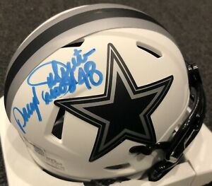 Daryl Moose Johnston Autographed Cowboys Mini Helmet- Beckett Hologram Lunar B