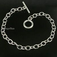 10pcs Chain Bracelet Wholesale Lots Stainless Steel For Dangles Charms 20cm