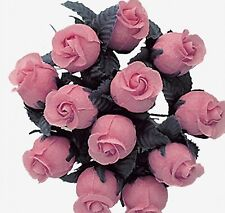 144 Miniature Poly Rose Silk Favor Flower Pick Wedding Shower - Mauve/Dusty Rose