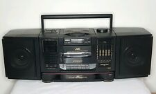 JVC PC-X200 PORTABLE CD CASSETTE AM FM RADIO STEREO SYSTEM FOR PARTS OR FIX