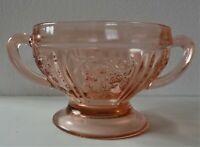 Antique Federal Sharon (Cabbage Rose) Pink Depression Sugar Bowl..mint cond.