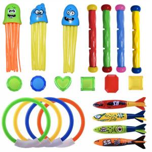 5 Style Underwater Diving Toys Ring/Torpedo/Stick Kids Swimming Pool Water Game