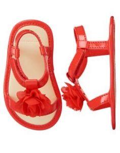 NWT Gymboree Gazebo Party Flower Crib Shoes Sandals Baby Girl Infant 1,2