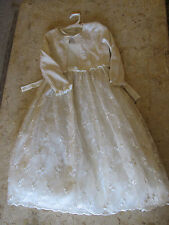Cinderella Brand girls dress & sweater size 7 ivory Easter or Wedding