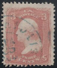 Scott # 65 3c Washington Fancy Cancel CDS Town Blue ...Polis