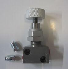 Bremskraft Regelventil einstellbar Bremsdruckminderer stufenlos Aluminium - SET