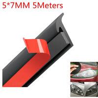 5M T-Shape Car Door Rubber Seal Strip Hood Trunk Trim Edge Moulding Weatherstrip