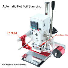 Automatic Hot Foil Stamping Machine Leather Wood Paper Logo Embossing Tool 5*7cm