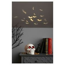 Halloween Decoration Rotating Skull Projector with LED Bulbs~Bats On Ceiling