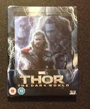 THOR THE DARK WORLD 3D Blu-Ray SteelBook Zavvi UK Exclusive Lenticular OOP Rare!