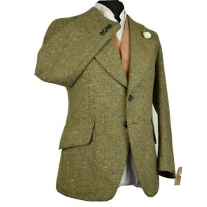 Vtg Tweed Wool 1970's Tailored Country Blazer Jacket 38R #177 FANTASTIC QUALITY