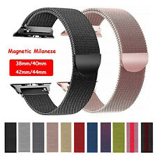 For Apple Watch 38/40/42/44mm Magnetic Milanese Loop Band Strap iWatch 5/4/3/2/1