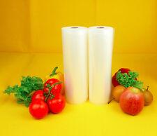 "GIANT TWO 11""X50' Rolls  4mil Vacuum Sealer Food Storage Bags! BIG Money Saver!"