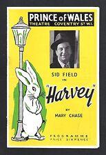 "Sid Field ""HARVEY"" Mary Chase / Pulitzer Prize 1949 Original London Cast Program"