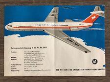 DDR Spielzeug Katalog Werbeblatt MSB Turbinenverkehrsflugzeug IL 62
