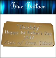 Personalised Plaque Engraved for  Birthday, Anniversary, Presentation, etc..