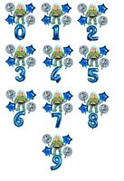 Toy Story Balloon Kit Buzz Lightyear 30'' Age Number Happy Birthday 6 Balloons