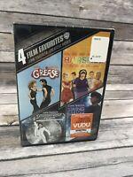 John Travolta: Greatest Moves 4 Film Favorites (DVD 2015, 4-Disc Set) Grease NEW