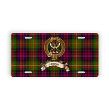 Scottish Clan Carnegie Novelty Auto Plate Tag Family Name License Plate