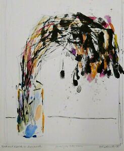 OSKAR KOLLER (1925-2004) aquarellierte Lithografie, sign., 1989/90