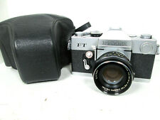 Vintage Petri FT 35mm SLR Film Camera with a Petri 35mm F1:1.8 Lens And Case