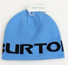 Burton Signature Reversible Blue Beanie Skull Cap Youth One Size NWT