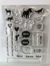 Hero Arts PETS ( Dog, Cat, Meow, Woof ) Hello  Photopolymer Poly Clear Stamps