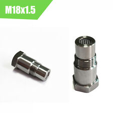 Car M18x1.5 Stainless Steel O2 Oxygen Sensor Extension Spacer Connector 2Pcs