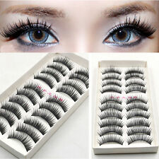HOT 10 Pairs/set Long False Eyelashes Makeup Natural Fake Thick Black Eye Lashes