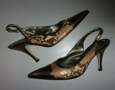 Vintage Snakeskin sling backs heels by Orchidea Italy Size 6