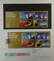 2012 ROYAL MAIL PRESENTATION FOLDER LONDON 2012 OLYMPIC GAMES & 2 FDC LOT 394*