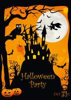 """""""SPUK-SCHLOSS MIT HEXE"""": Gruseliges Einladungskarten-Set für Halloween"""