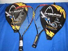 Set of 2 Head Ti. Crush XL Titanium Racquet Ball Rackets 3-5/8 Sudsy Monchik BRA