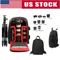 Waterproof SLR DSLR Camera Bag Shockproof Case Backpack Bag For Nikon-Canon