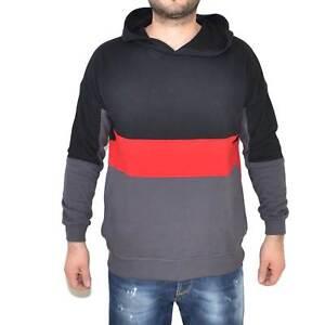 Felpa ACY multicolor con strisce nere rosso e grigio art.534 made in italy moda
