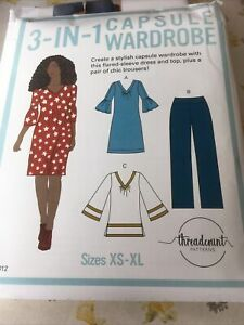 Threadcount Sewing Pattern 2012, 3-in-1 Capsule Wardrobe, Dress, Size 8-22 New
