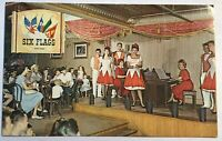 Six Flags Over Texas Showtime Crazy Horse Saloon Postcard Amusement Park