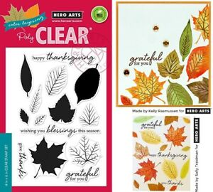 Leaves Stamps & Dies - Colour Layering Grateful Leaves and Maple Leaf, Laurel