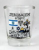 JERUSALEM ISRAEL LANDMARKS AND ICONS COLLAGE SHOT GLASS SHOTGLASS